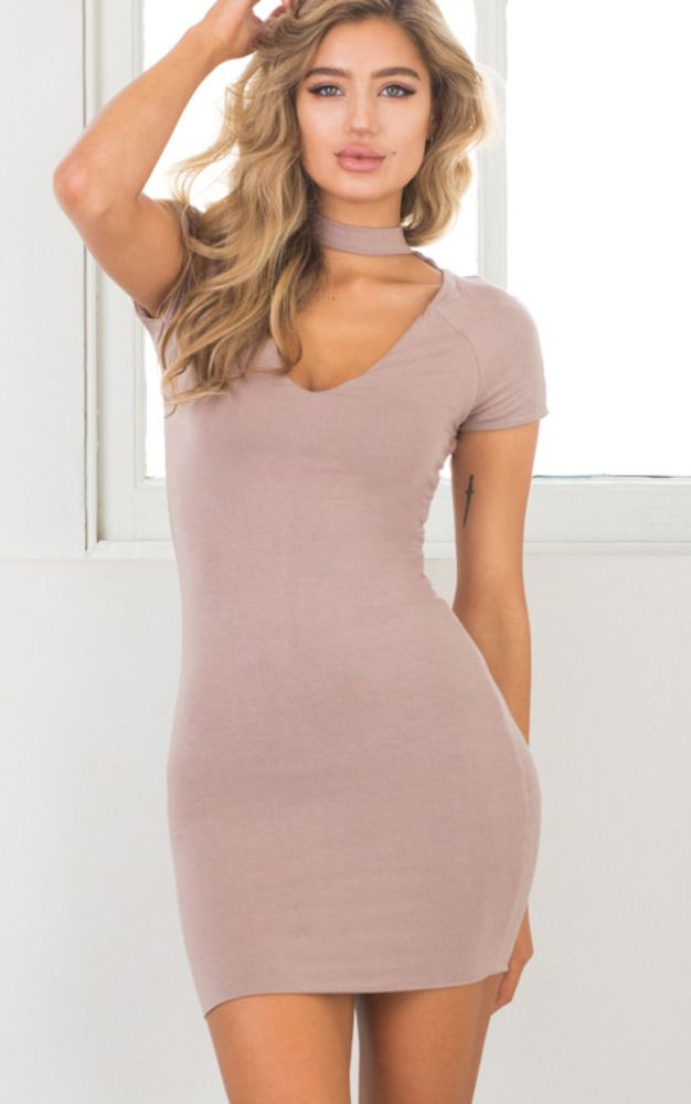 Showpo Girls Night Out dress in mocha - 8 (S) Party Dresses | Vestiditos