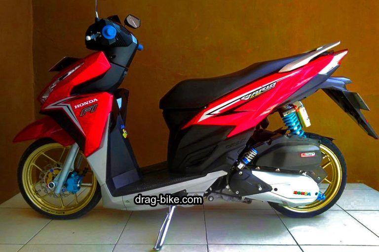 Variasi Vario 125 Modif Ring 14 Warna Merah Cafe Racer Honda