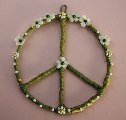 Hippy and Boho Style Peace Sign Wall  Home Decor  College Decor  Dorm Room  Decoration  Hand Made Art   Hippie Decor   Apartment D cor   Gift. PEACE SIGN  Home Decor  PEACE Wreath  Hippie Decor  Hippie  Peace