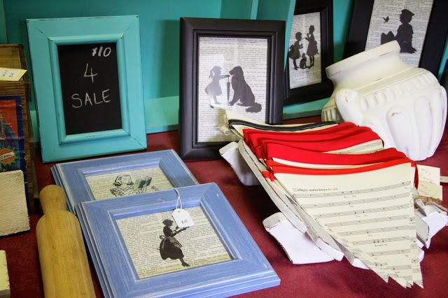 Silhouette images on Dictionary pages. How to make them. To Market, To Market - A Peek at What I'll be Selling at my Very First Market Stall