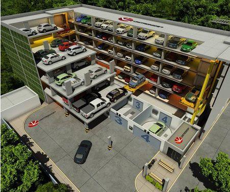 Image Result For Unique Parking Structure Garage Car Lift