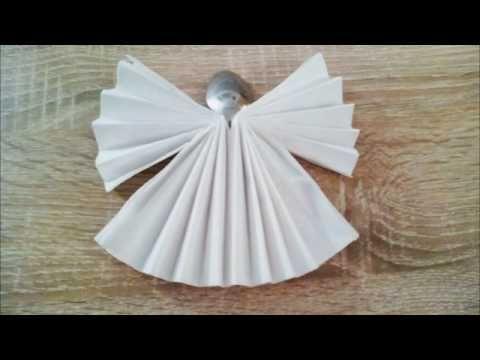 Servietten falten Engel - napkin folding angel