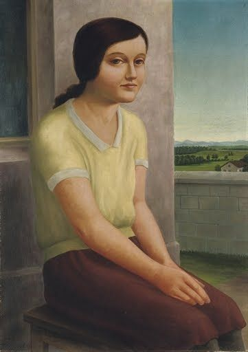 Georg Schrimpf - Young Girl Seated - 1923