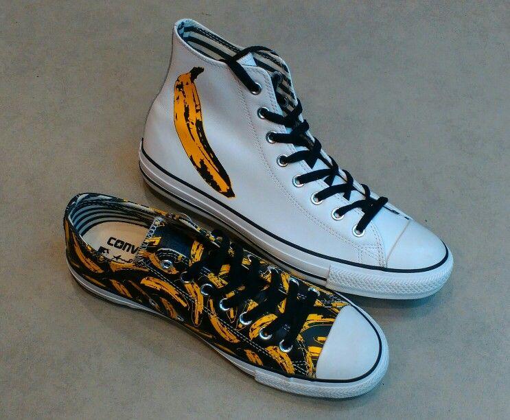 Converse x Andy Warhol 'Banana' Leather HiOx #converse