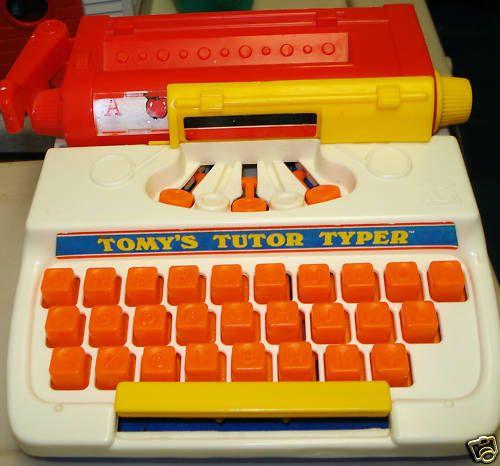 80s Electronic Toys : Tomy s tutor typer childhood pinterest