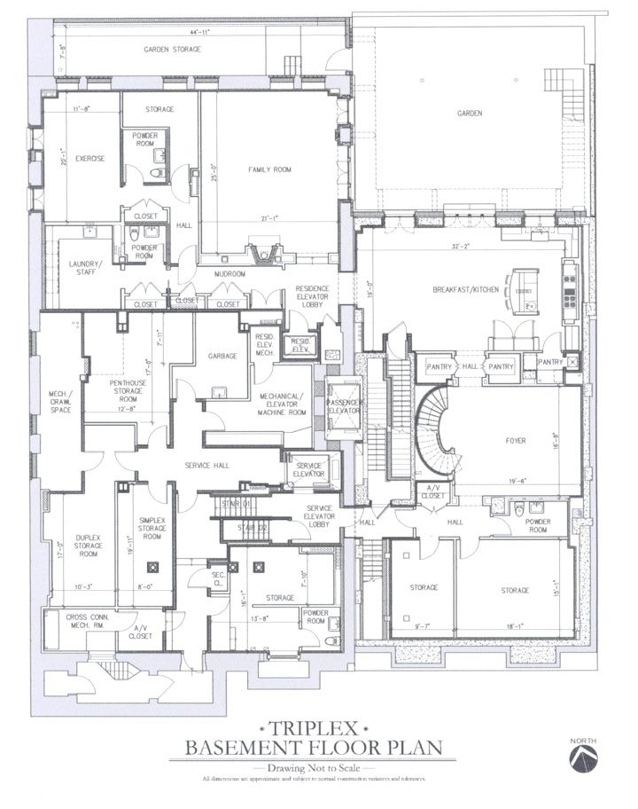 Carhart Mansion Ny Triplex Basement Floorplan Via The Realestalker Mansion Floor Plan Mansion Plans Apartment Floor Plans