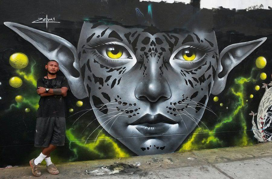 Magical portrait by @zelva_1 in Lima, Peru.