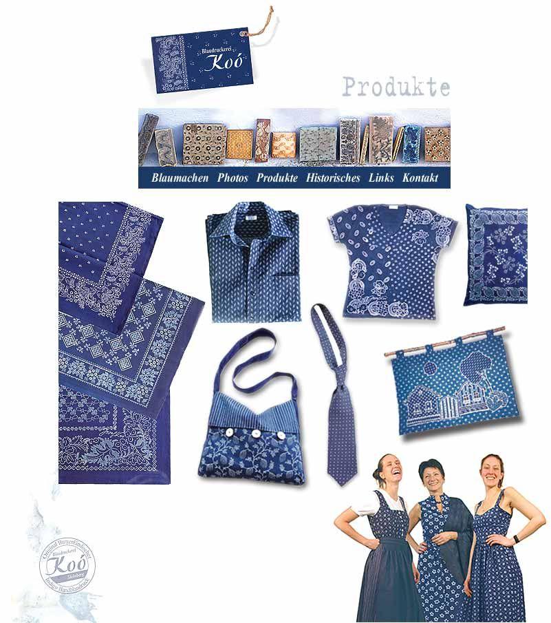 Koo Blaudruck Produkte | style | Pinterest | Indigo dye, Reuse and ...