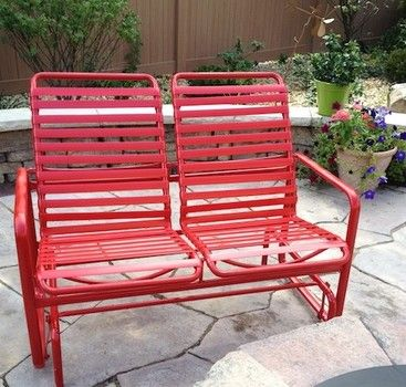 How To Replace The Strapping On Your Old Patio Furniture Diy Patio Furniture Patio Furniture Makeover Patio Furniture