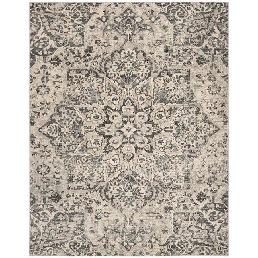 Safavieh Carmel Pierce 10 Ft X 14 Ft Ivory Gray Area Rugs Oriental Area Rugs Classic Rugs
