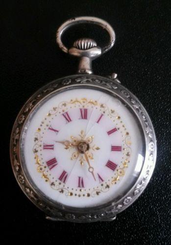 6705db6388b2 C1900 antique solid silver ladies pocket watch