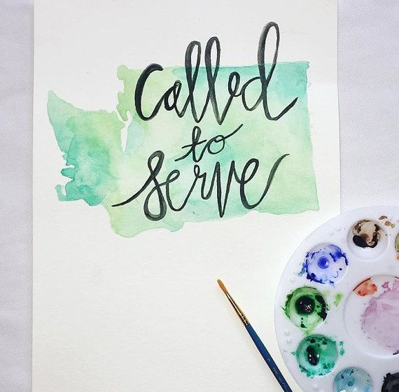 Custom Called To Serve Missionary Painting Hand Lettering