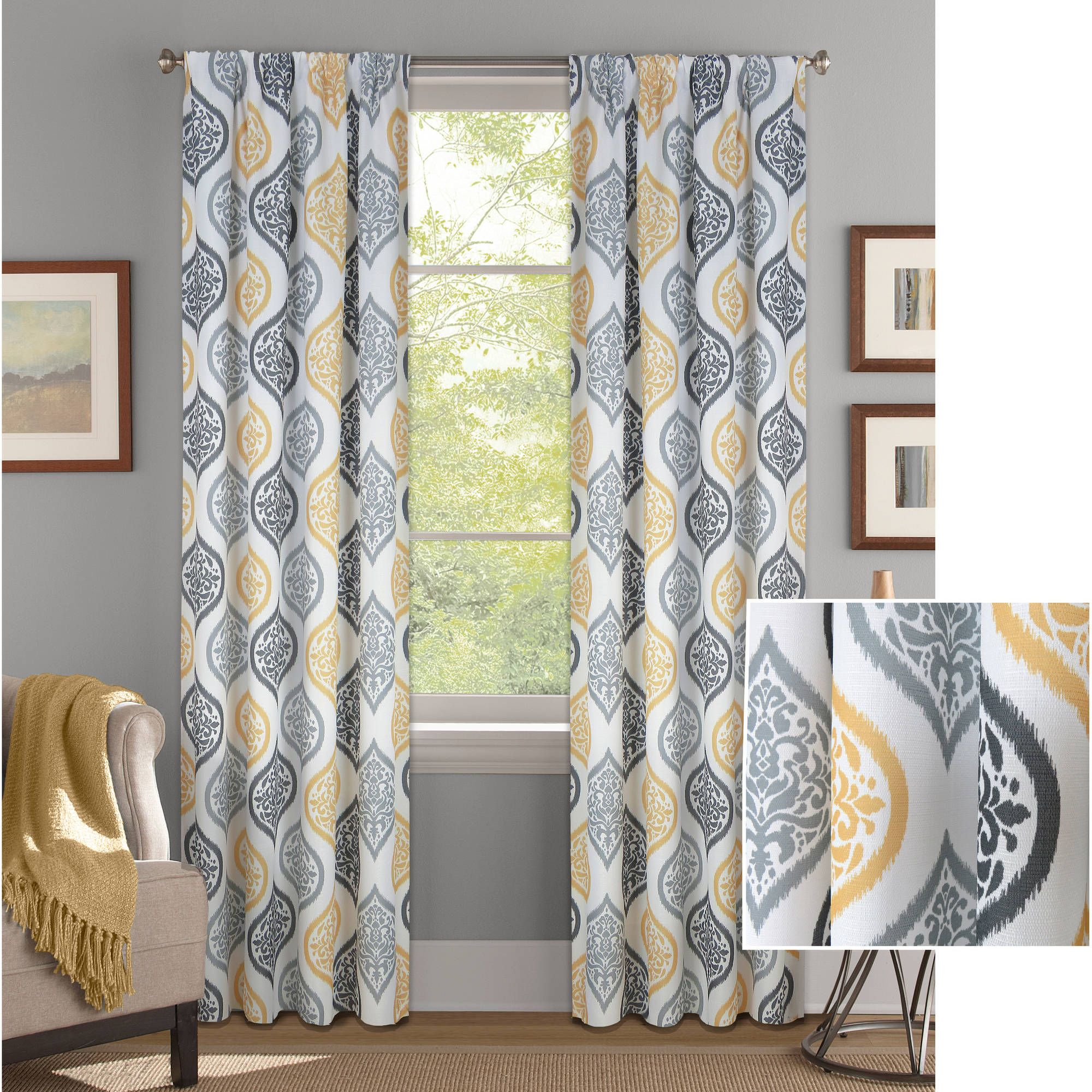 95f46b263ed9393d8aa186f5e9c189a7 - Better Homes & Gardens Heathered Window Curtain Panel