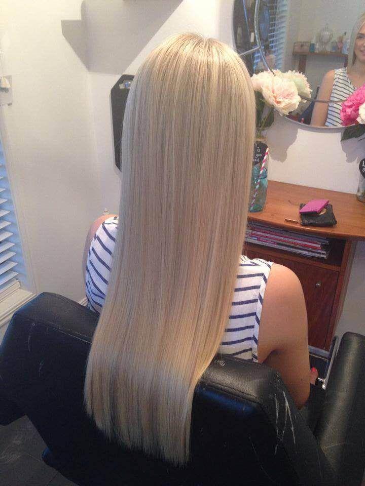 Ice Queen Platinum Blonde Zalas Tape Hair Extensions Hair Colors