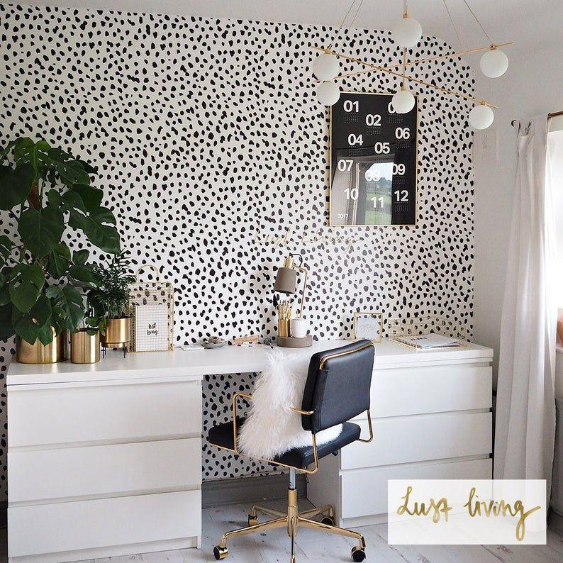 Dalmatian Dot Removable Wallpaper G18227 Etsy in 2020