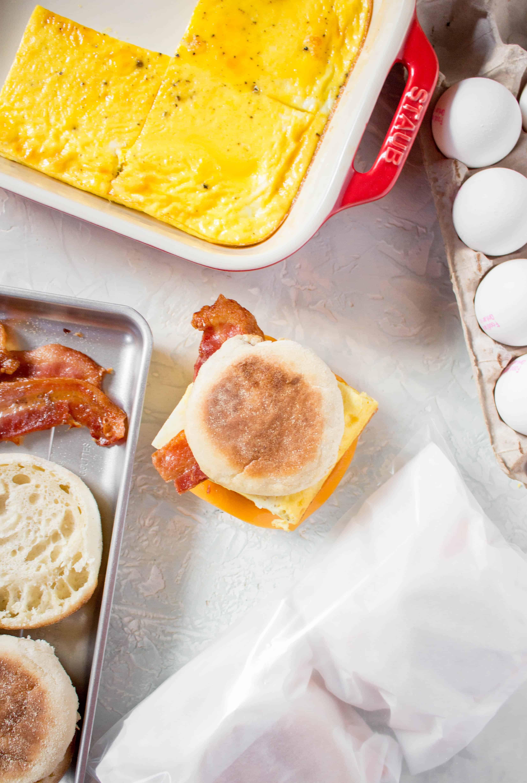 Freezer Friendly Breakfast Egg Sandwiches Recipe Frozen Breakfast Breakfast Brunch Recipes Breakfast Recipes Easy
