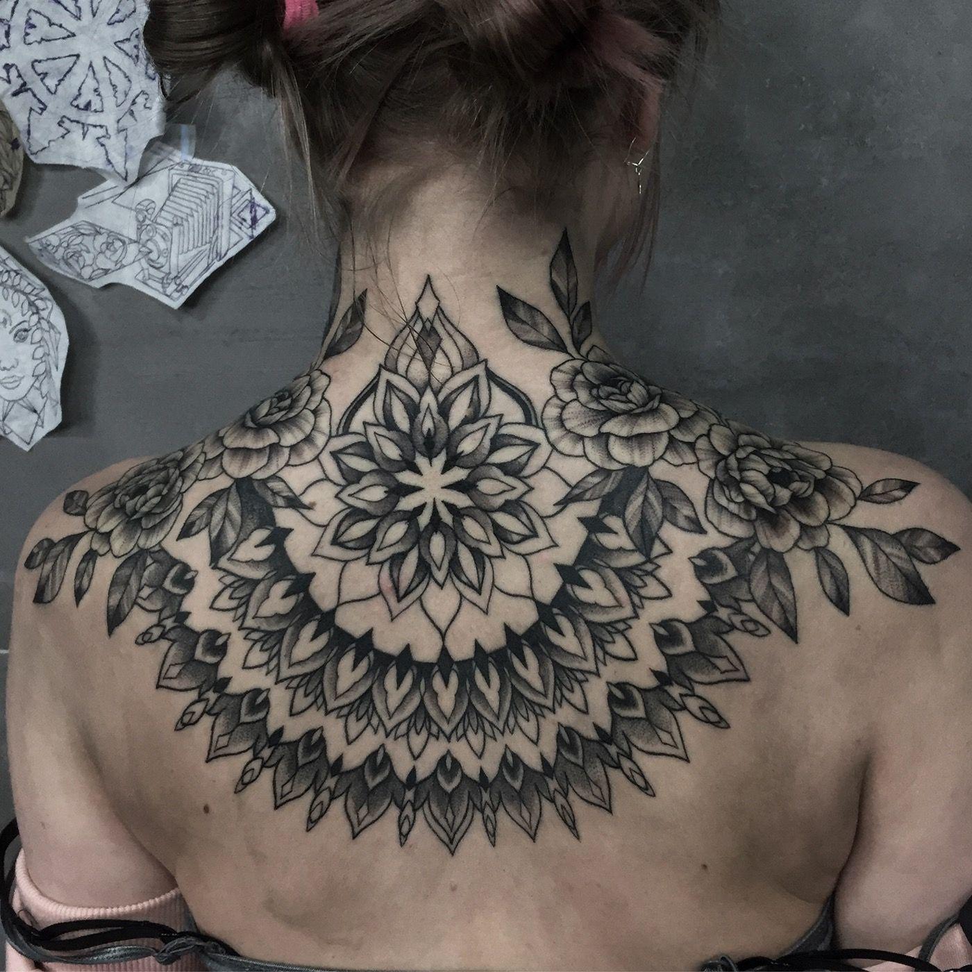 Nape tattoo on Behance