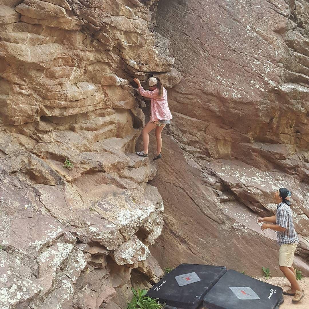 Instagram Photo by @sledoutdoors: Highball. #climbmore #climb #climbing #climbing_pictures_of_instagram #climber #rockclimbing #livetoclimb #rock #rockclimber #mountainlove #exploring #neverstopexploring #mountains #mountainpeopleunite #rei1440project #52hikechallenge #bouldering. Shop rock climbing gear at RockClimbingPros.com