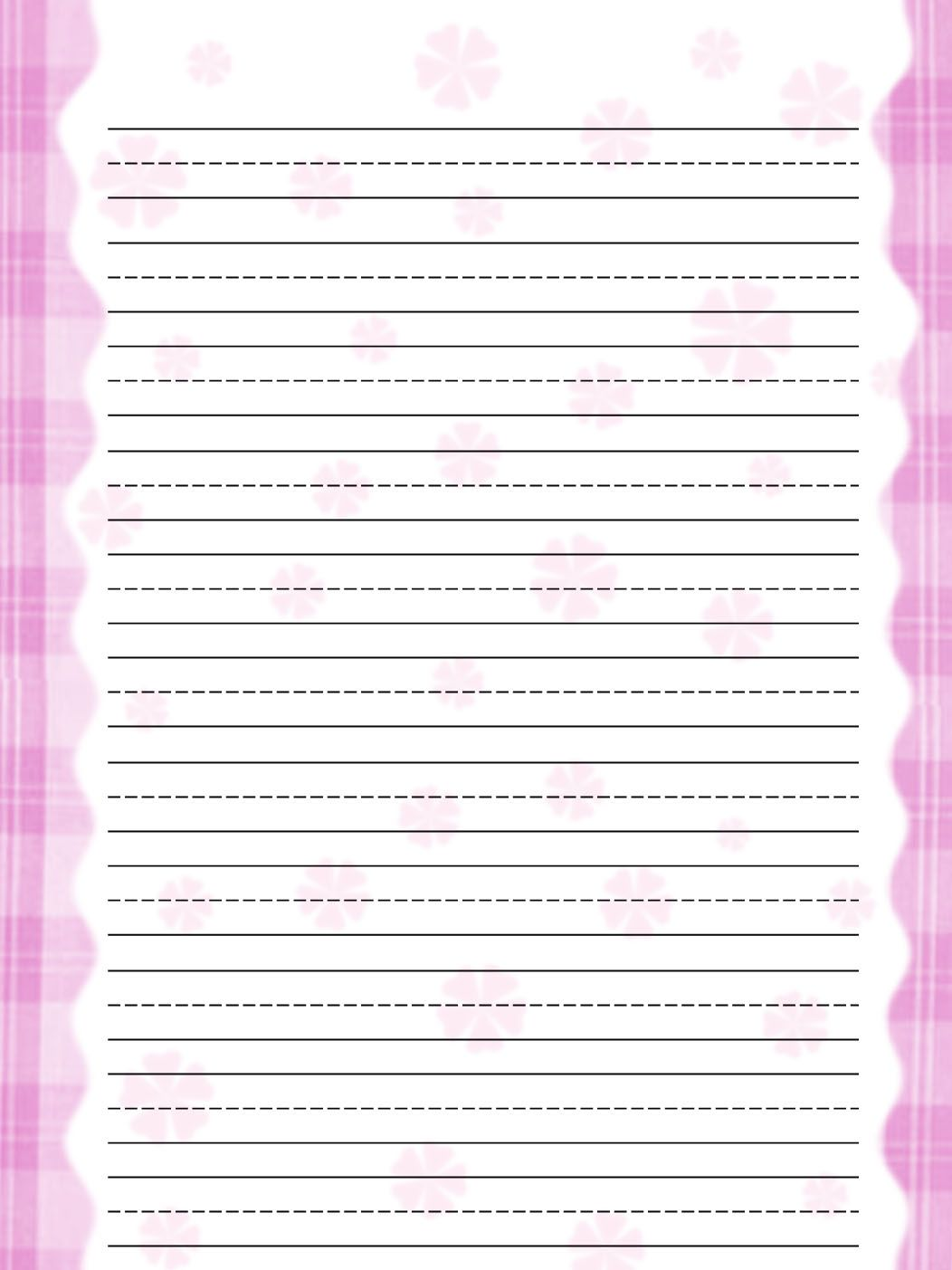 Free printable kids stationery free primary lined writing paper – Lined Paper Template Kids