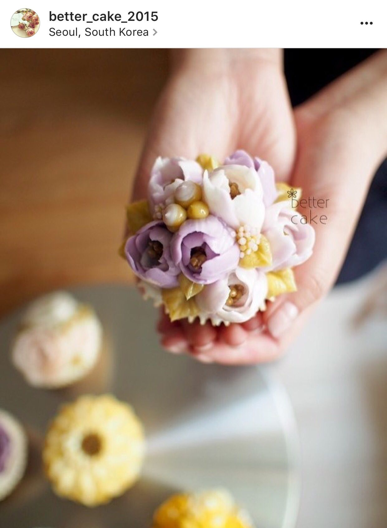 Korean 3D flower buttercream cake. Buttercream cake