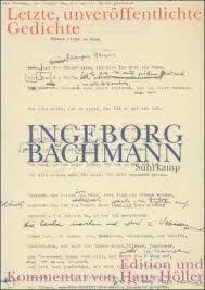 Bildergebnis für ingeborg bachmann malina