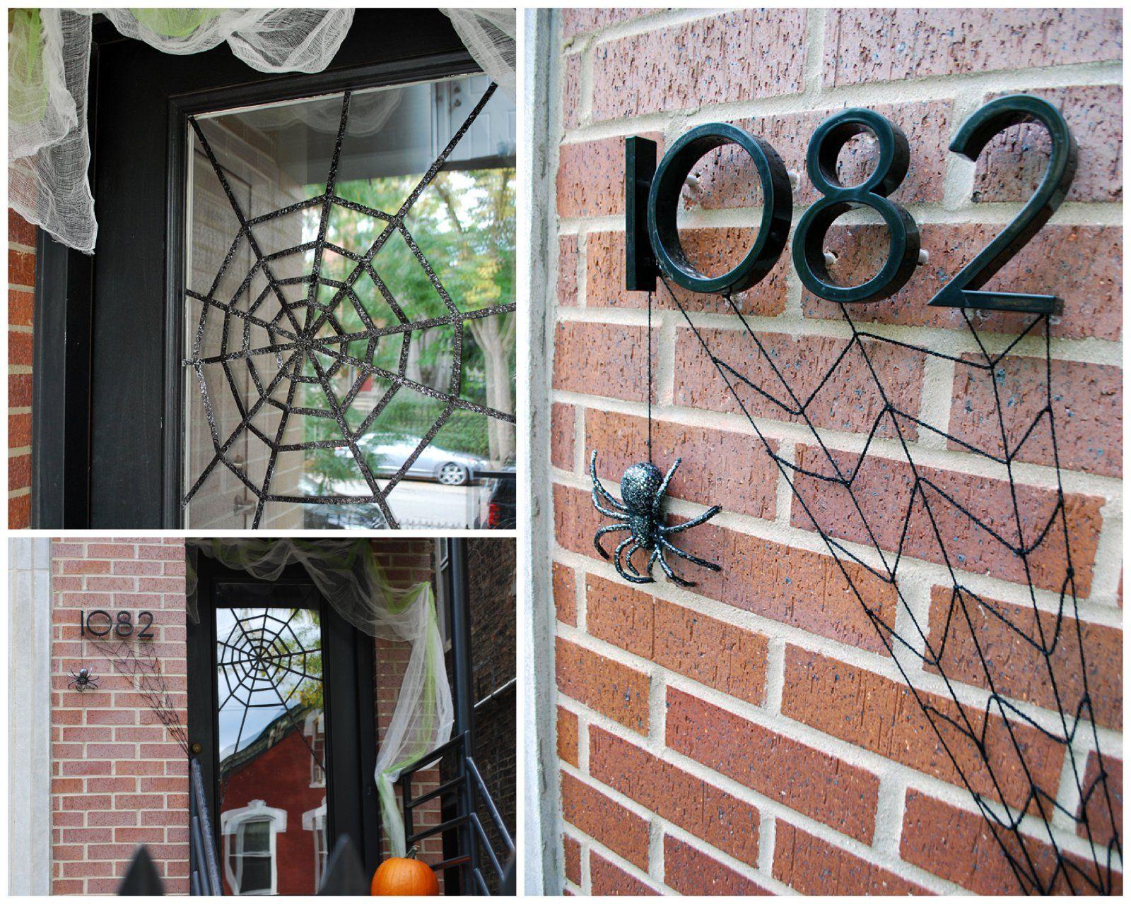 DIY Halloween Front Door Decoration Subtle Spiderwebs Pinterest - halloween front door decor