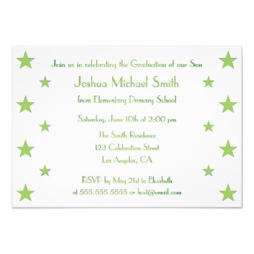 Stars kids custom graduation party invitation card star kids and stars kids custom graduation party invitation card stopboris