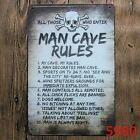 A MAN WILL FIX IT -*US MADE* Embossed Sign - Man Cave Garage Shop Bar Wall Decor | eBay #mancavegarage