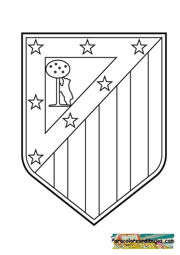 Escudos Medievales Para Colorear E Imprimir Buscar Con Google Futbol Para Colorear Plantillas Para Colorear Atletico De Madrid Escudo