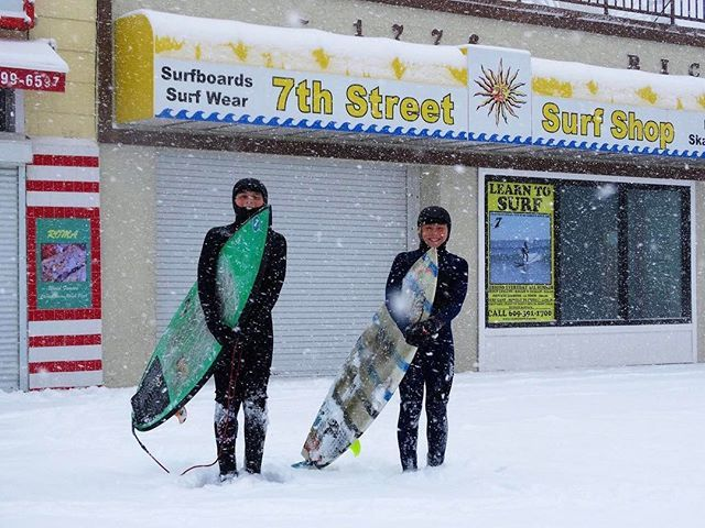 What Happens When A Winter Storm Brings Waves You Go Surfing 10 Year Old Ethan Dunn And 11 Year Old Jeremy Nordberg Head Ocean City Nj Ocean City