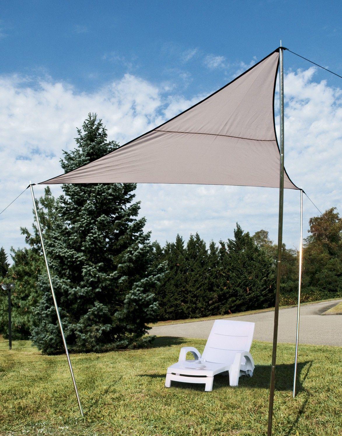 voile d ombrage triangulaire 3 x 3 m au