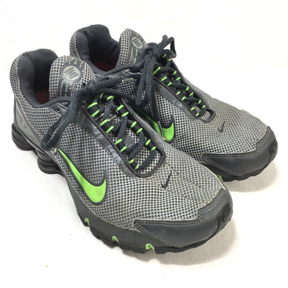 Nike Shox Men's 8.5 Gray Green Lace Up