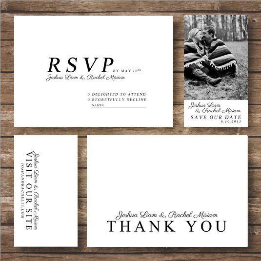 Printable Park Avenue Script Wedding Invitation by Ravenandrook