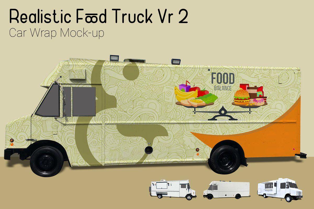 Food truck mockup vr2 used food trucks mocking mockup