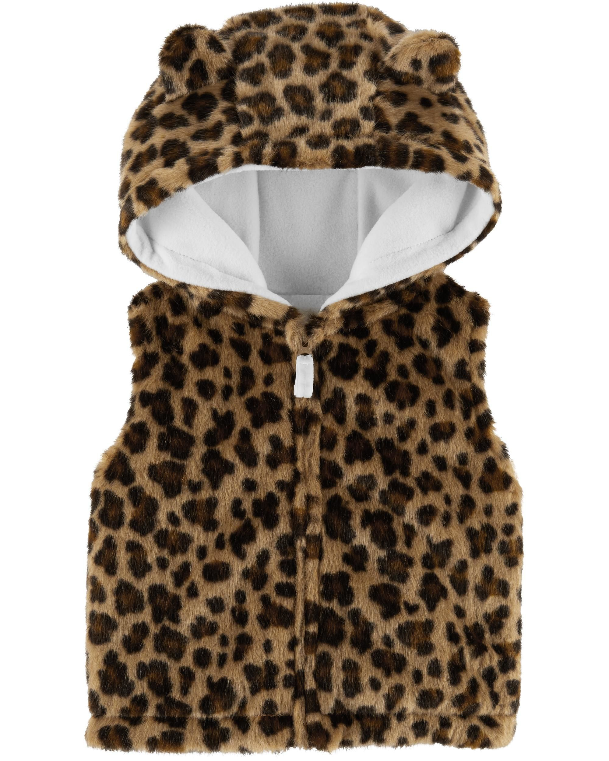 Faux Fur Leopard Vest Baby Carters Baby Girl Baby Fur Vest