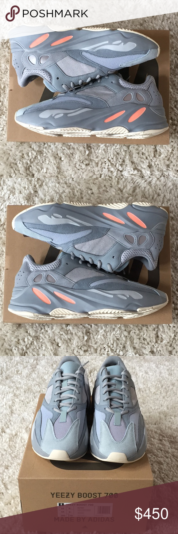 f7e9718c7cba7 Adidas Yeezy Boost 700 Inertia EG7597 Gray 10 Selling a Brand New In Box  pair of. Visit. April 2019