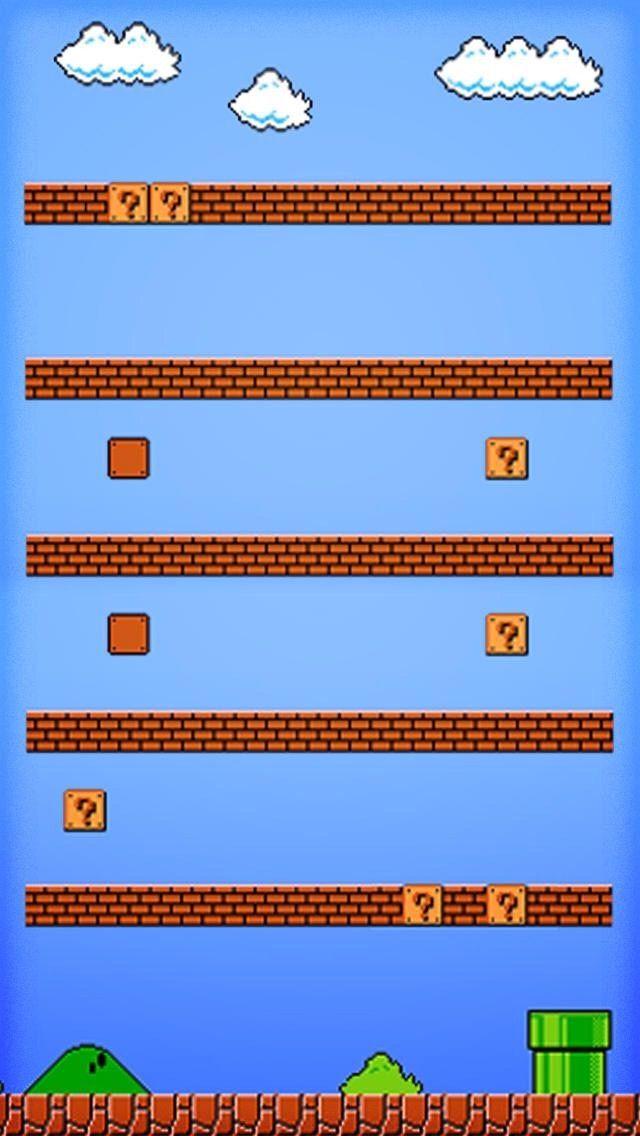 Super Mario Iphone Shelf Background Iphone Wallpaper