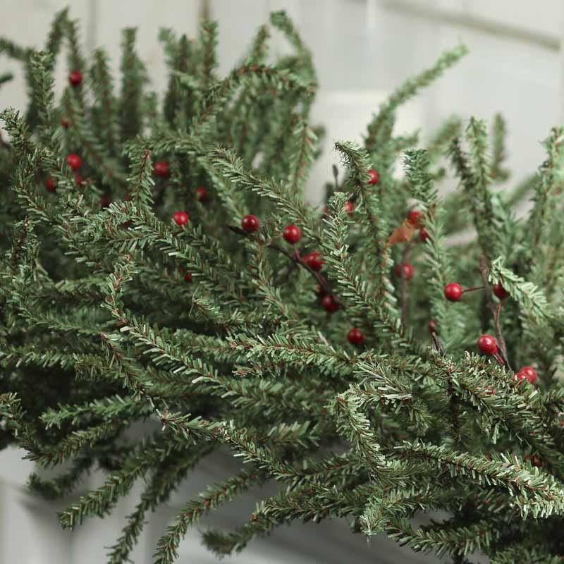 Artificial Pencil Pine and Berry Garland Crafts, Factory direct
