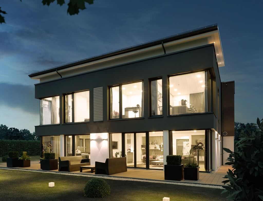 Fassade Modern stadtvilla mit pultdach concept m 188 wuppertal bien zenker