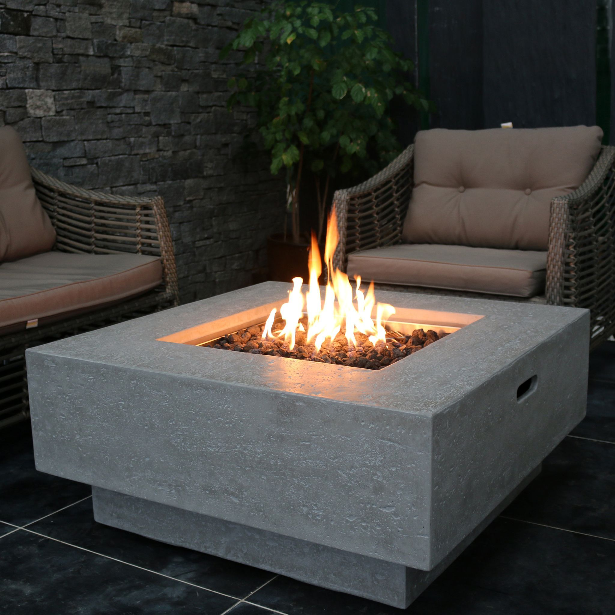 Manhattan Concrete Fire Table   Outdoor fire pit table, Outdoor ...