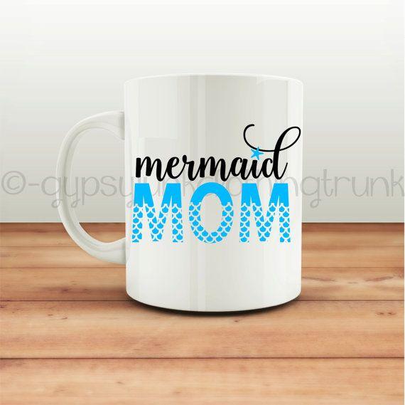 Mermaid Mom Coffee Mug Mermiad Beach