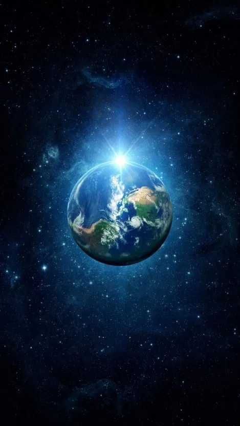 Earth Light iPhone Wallpaper Free imagens