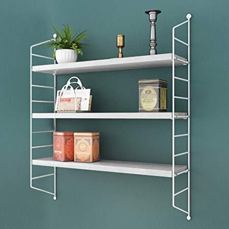 Amazon Com Rank Modern 2 Tier Display Wall Shelf Adjustable
