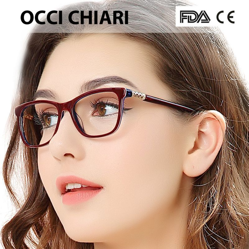 7a536ab50e 2018 vintage retro acetate myopia eye glasses women clear lens frames  optical demi eyeglasses spectacles w