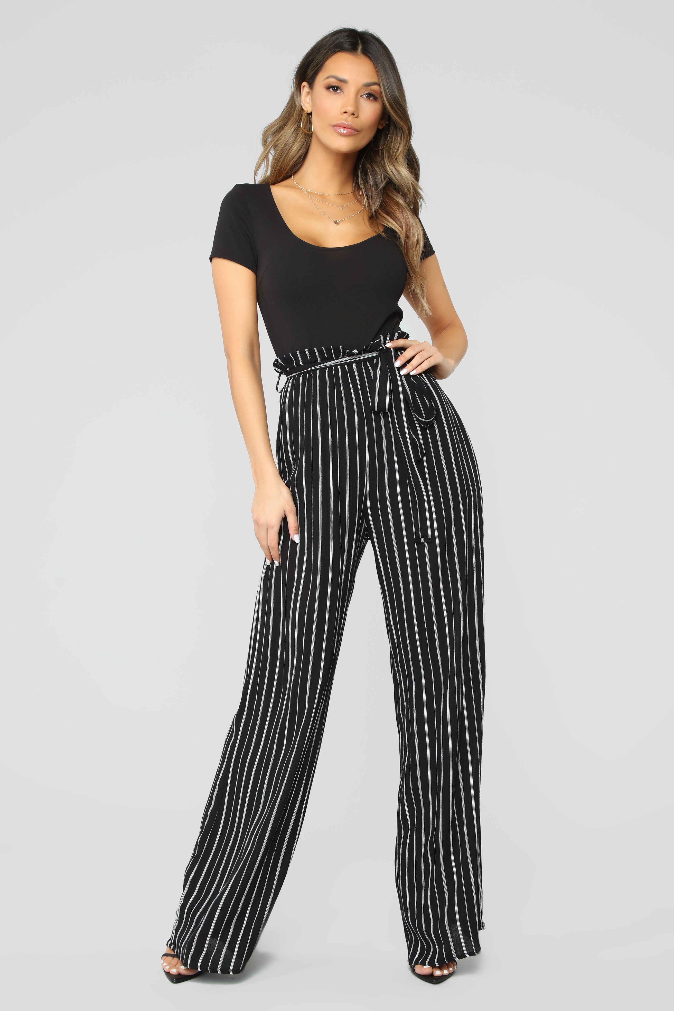 Photo of Follow The Path Paperbag Jumpsuit – Black/White