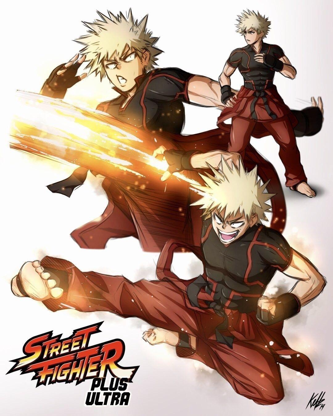 Katsuki Bakugo Ken Hero Academia Characters Hero Street Fighter Characters