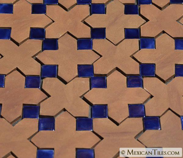 Mexican Tile 4 X 4 Tierra Floor Tile Cross 1 Tile Floor Tiles Mexican Tile Floor