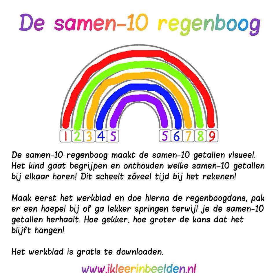 De samen 10 regenboog (Met dank aan www.ikleerinbeelden.nl ...