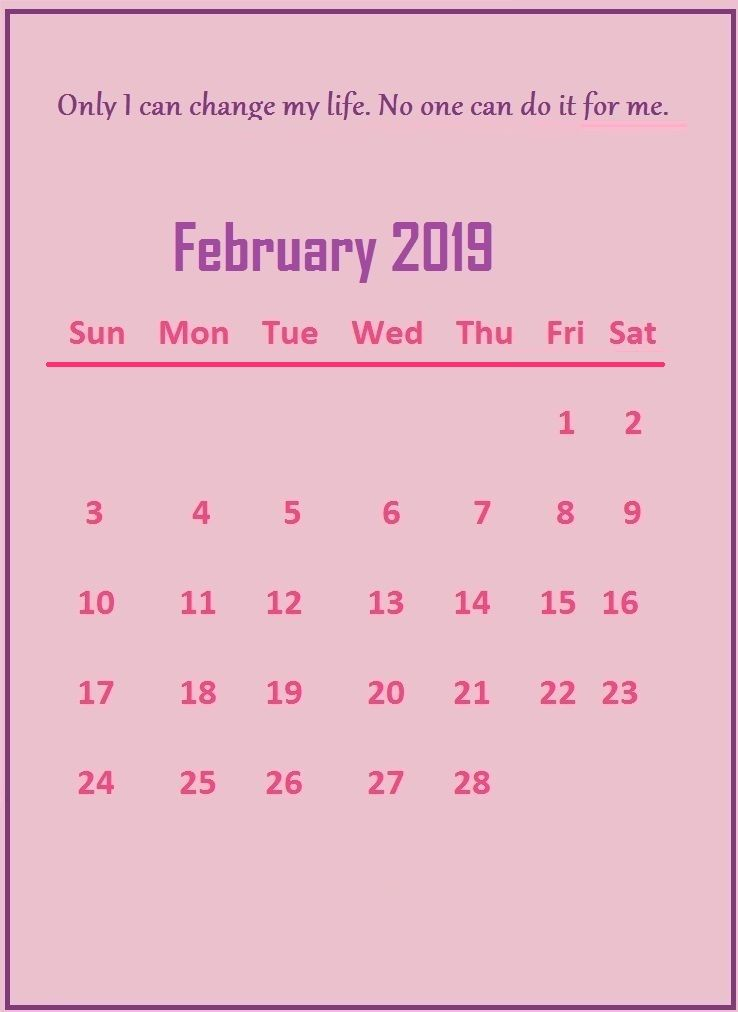 Weight Loss Calendar February 2019 Pin by Printable Templates Calendar on February 2019 Calendar