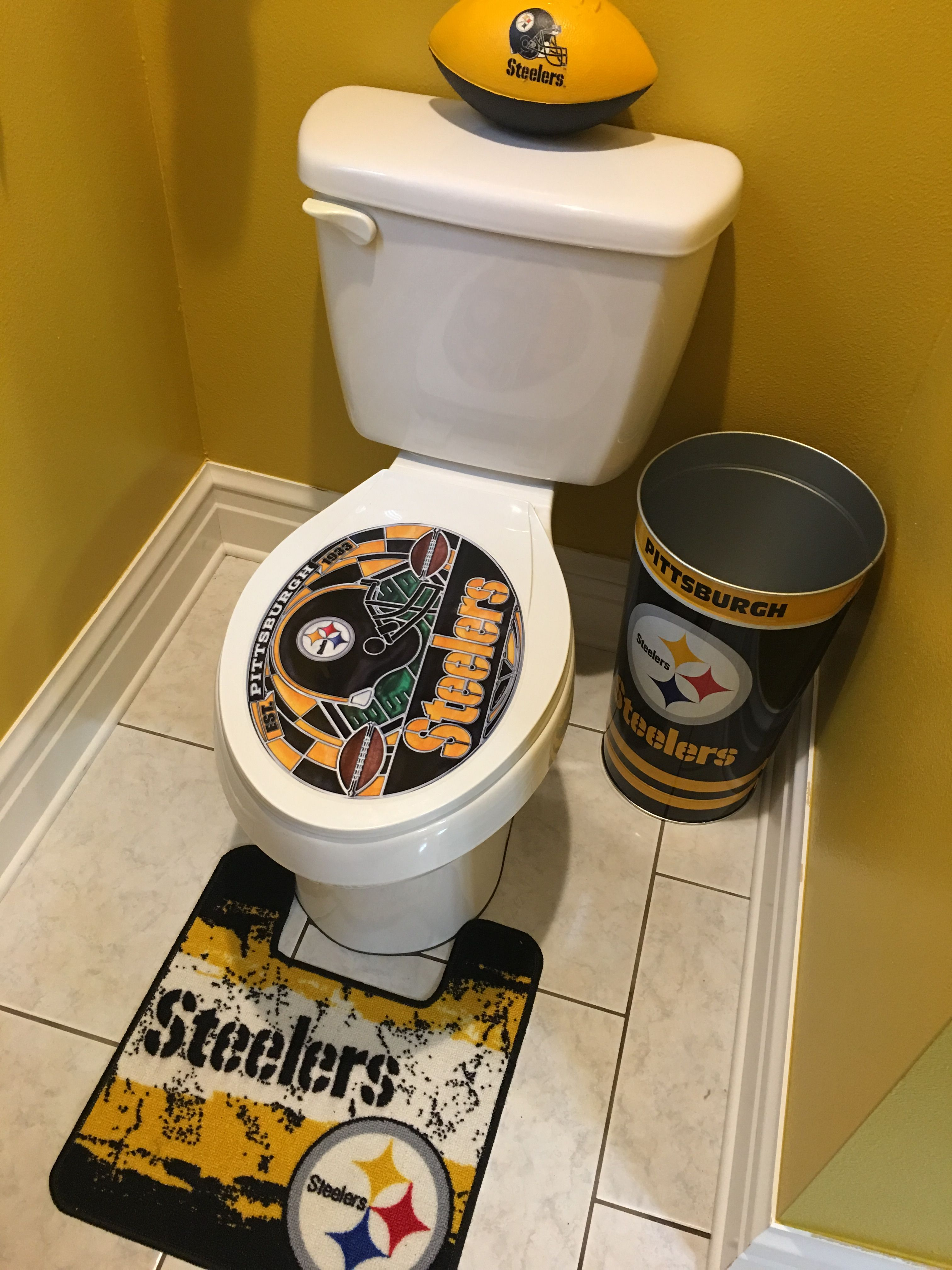 Steelers Bathroom With Images